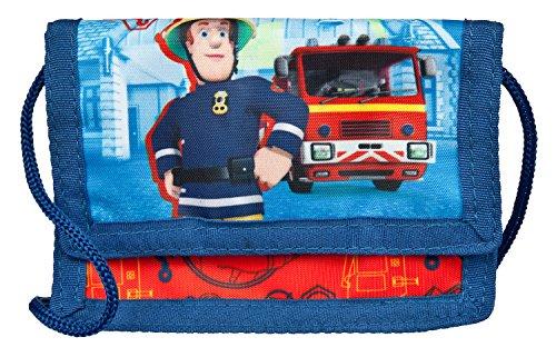 Undercover FSTU7000 - Feuerwehrmann Sam Geld- und Brustbeutel, mit Klettverschluss, Kordelband, Geldscheinfach und Münzfach, ca. 8 x 13 x 5 cm