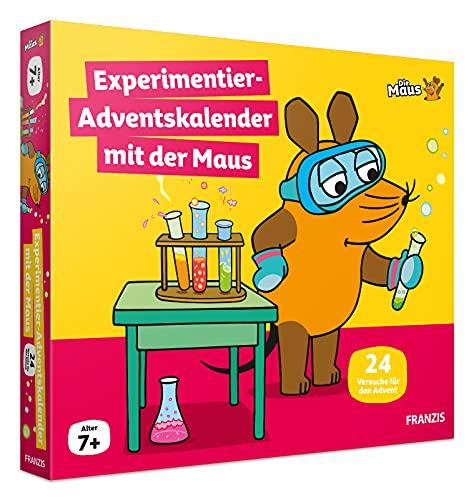 FRANZIS 67185 - Experimentier-Adventskalender 2021 mit der Maus, 24 Experimente zum Staunen, Lachen...
