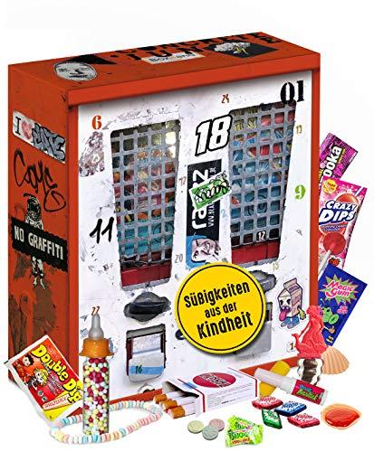 Nostalgie Adventskalender 2021 I Kalender mit früheren Süßigkeiten I Geschenkset nostaglisch...