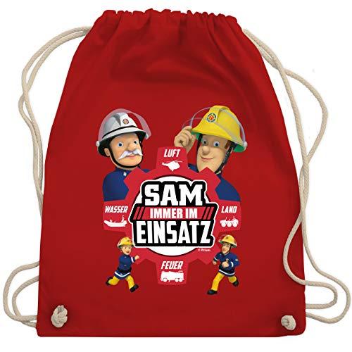 Shirtracer Feuerwehrmann Sam Tasche - Sam - Immer im Einsatz - rot - Unisize - Rot - Held im Einsatz - WM110 - Turnbeutel und Stoffbeutel aus Baumwolle