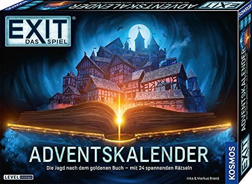 KOSMOS 681951 EXIT - Adventskalender 2021, Die Jagd nach dem goldenen Buch, mit 24 spannenden...