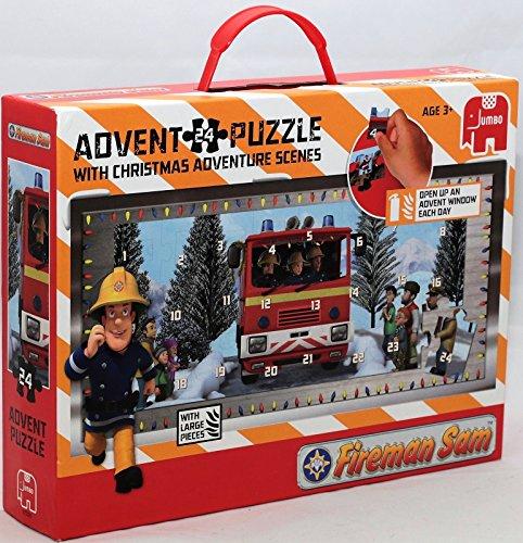 Feuerwehrmann Sam Jumbo 17336 Puzzle 24 Teilig Adventskalender