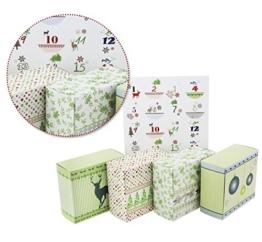 24 Adventsboxen zum Befüllen, 24 Boxen (9x8x4 cm) mit Zahlenstickern - 1