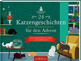 24 Katzengeschichten für den Advent: Ein Adventsbuch zum Aufschneiden - 1