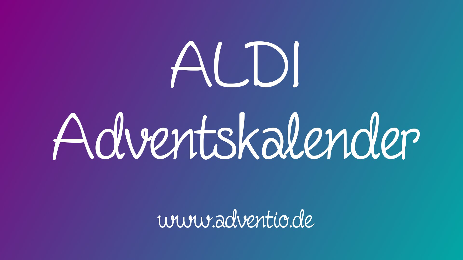ALDI Adventskalender