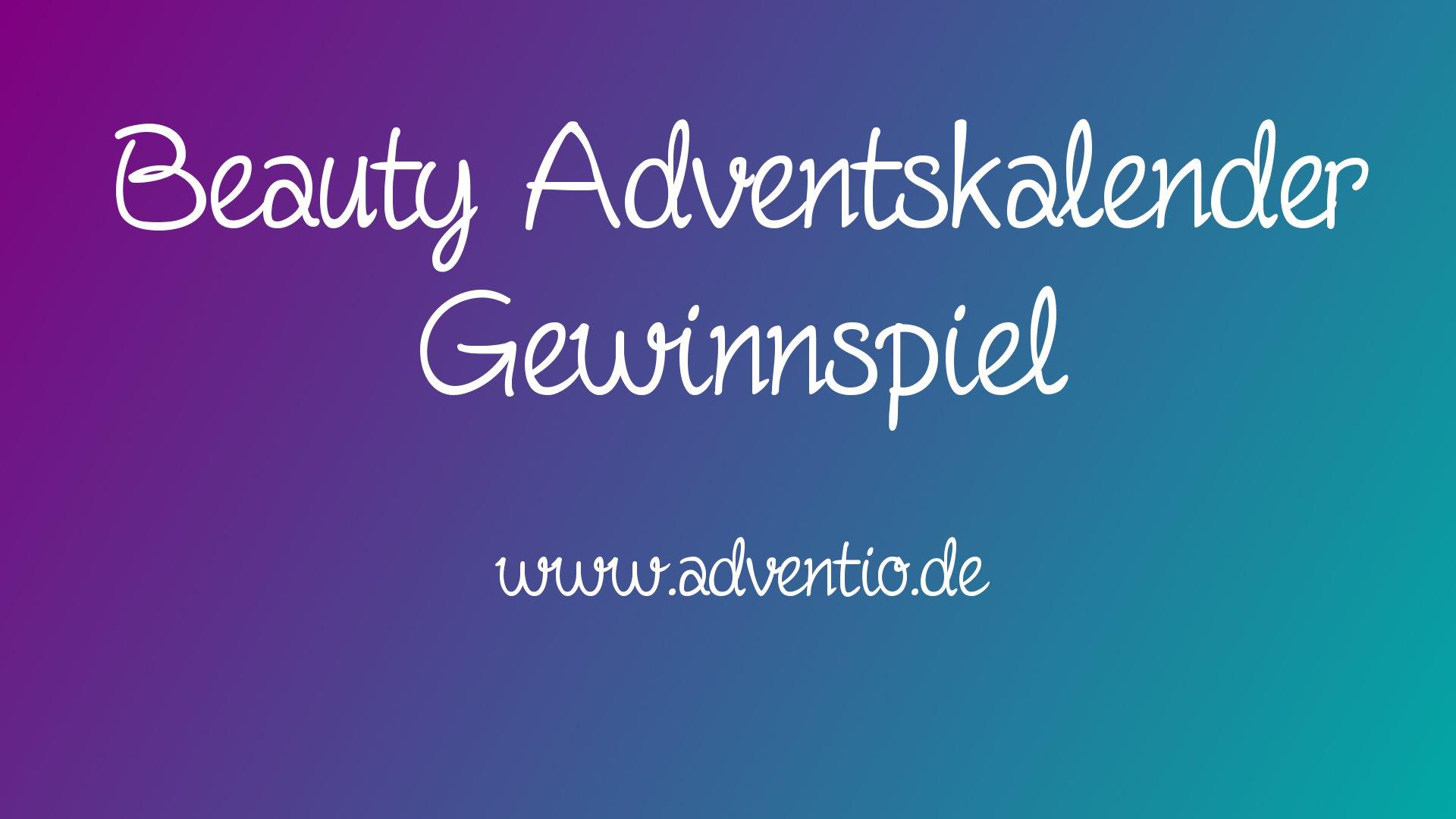 Beauty Adventskalender Gewinnspiel