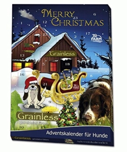 JR-Farm Hunde Adventskalender, 1er Pack (1 x 140 g), Getreidefrei - 1