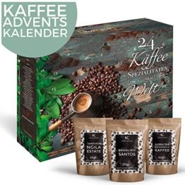 Kaffee-Adventskalender I Weihnachtskalender mit 24 edlen Kaffees aus aller Welt I Kaffeekalender als Geschenk für Erwachsene I Kaffee Geschenkset in der Weihnachtszeit Adventszeit - 1
