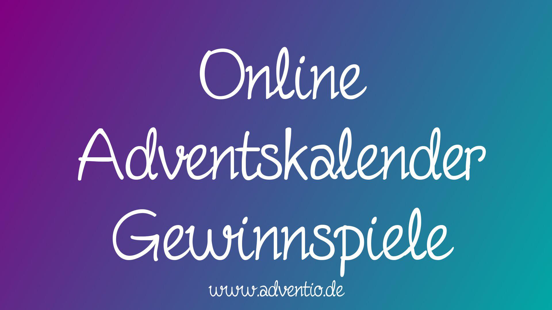 Online Adventskalender Gewinnspiele