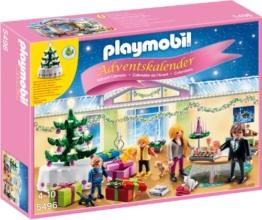 PLAYMOBIL 5496 - Adventskalender Weihnachtsabend mit beleuchtetem Baum - 1