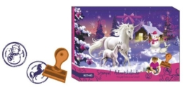 Stempel-Adventskalender Einhorn im Winter - 1